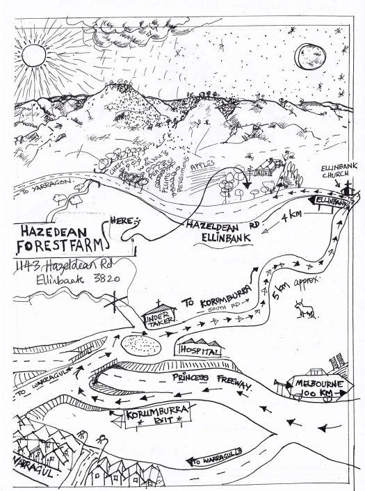 Farm map drawn